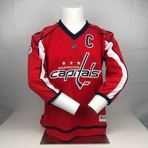 Red Reebok Alexander Ovechkin Capitals Home Jersey